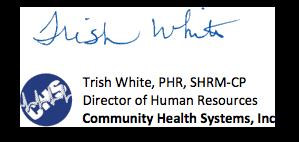Trish White Signature