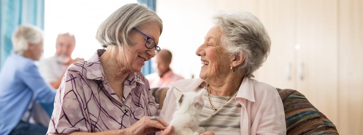 Senior Women Talking Together